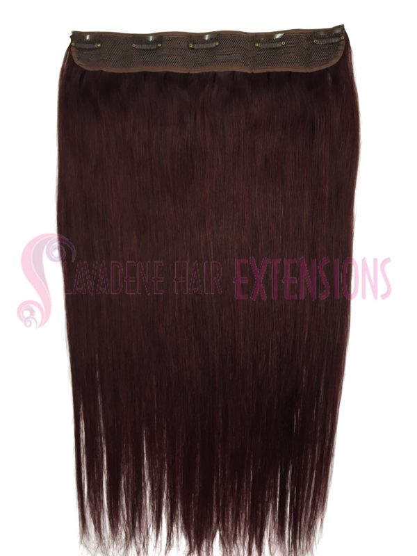 Clip In Hair Extensions 1 pce Straight - Colour #2 Burgundy Red