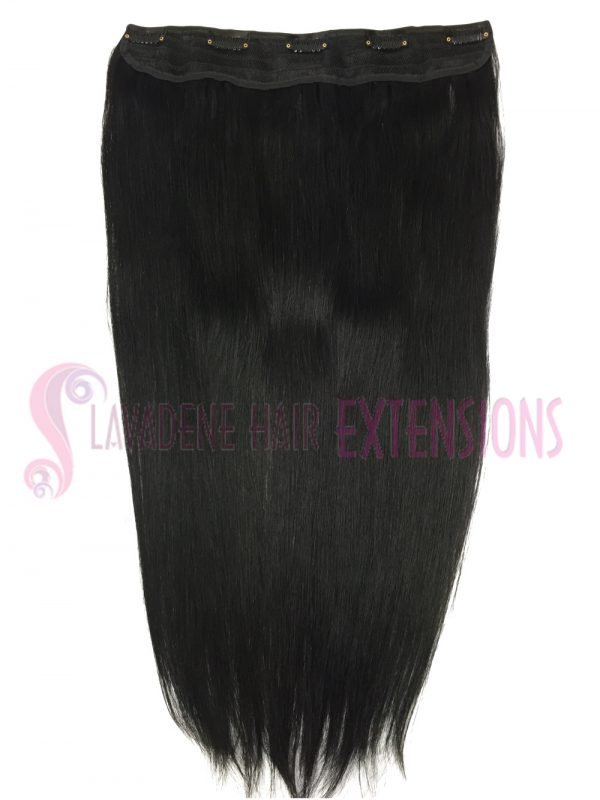 Clip In Hair Extensions Melbourne 1pce Straight - Colour #1 Black
