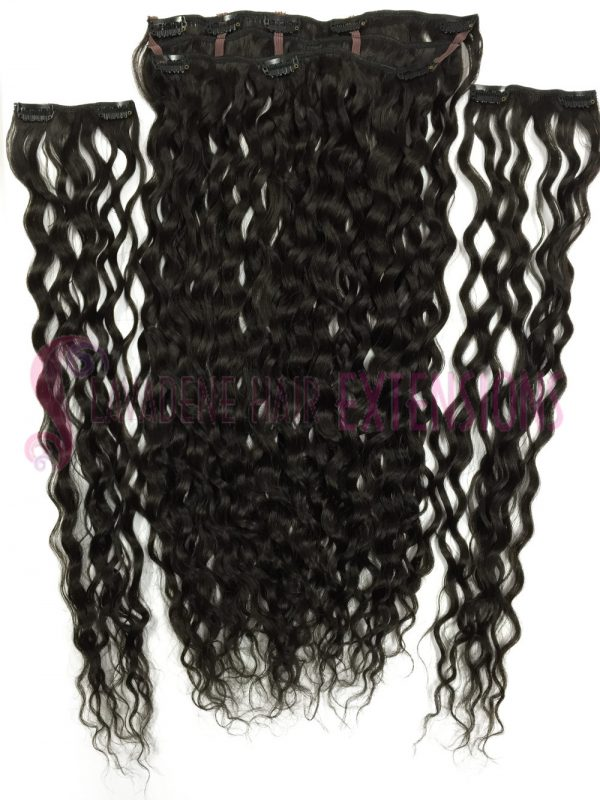 Clip In Hair Extensions Melbourne 3pce Curly - Colour #1B Darkest Brown
