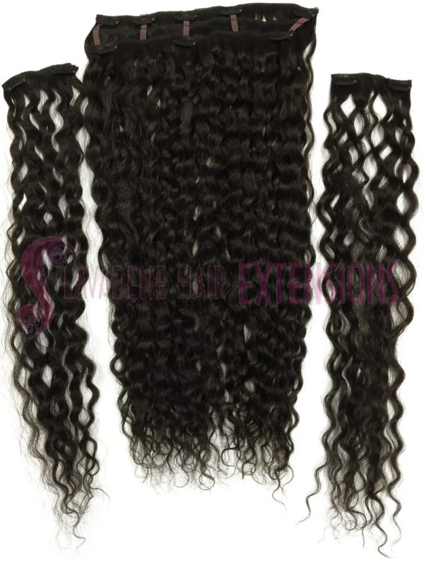 Clip In Hair Extensions Melbourne 3pce Curly - Colour #2 Choc Brown