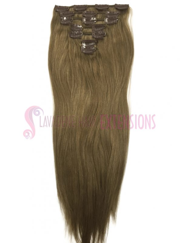 Clip in Hair Extensions 7pce Straight - Colour #10