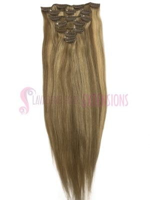 Clip In Hair Extensions Melbourne 7pce Straight - Colour #10/22 Dark & Light Blonde