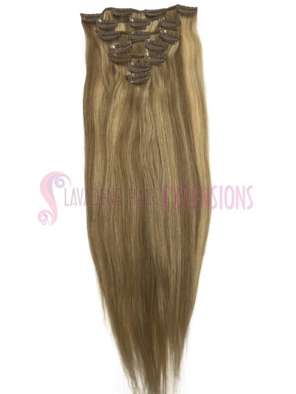 Clip in Hair Extensions 7pce Straight - Colour #10/22 Dark & Light Blonde