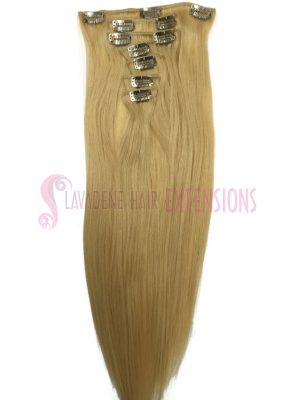 Clip in Hair Extensions 7pce Straight- Colour #22 Light Blonde