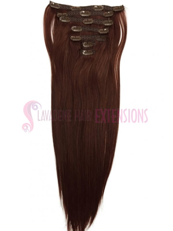Clip In Hair Extensions Melbourne 7pce Straight - Colour #33 Copper Red