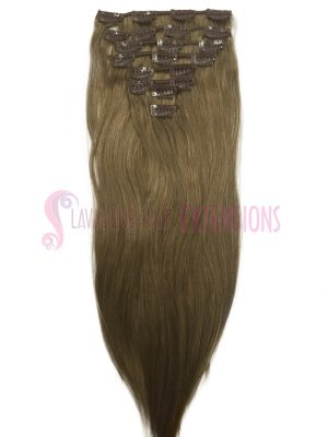 Clip in Hair Extensions 8pce Straight - Colour #10 Dark Ash Blonde