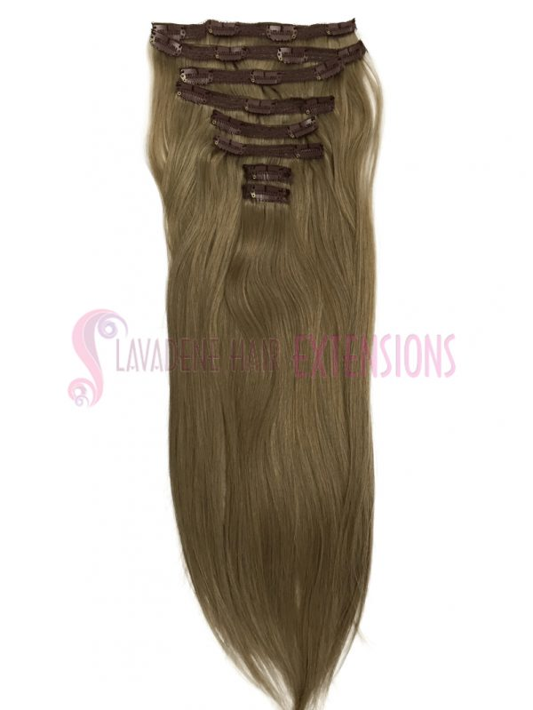 Clip in Hair Extensions 8pce Straight- Colour #18 Dark Blonde