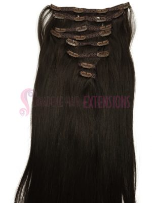 Clip in Hair Extensions 8pce Straight - Colour #2 Choc Brown