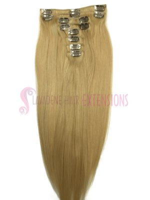 Clip in Hair Extensions 8pce Straight- Colour #22 Light Blonde