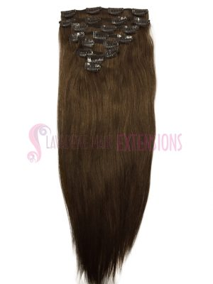 Clip in Hair Extensions 8pce Straight - Colour #6 Medium Brown