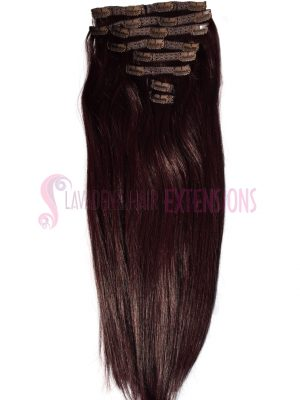 Clip In Hair Extensions Melbourne 8pce Straight - Colour #99j Burgundy Red