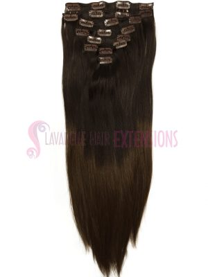 Clip in Hair Extensions 8pce Straight - Ombre Colour 2/ 6