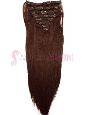 Clip in Hair Extensions Straight 8pce - Colour #33 Copper Red