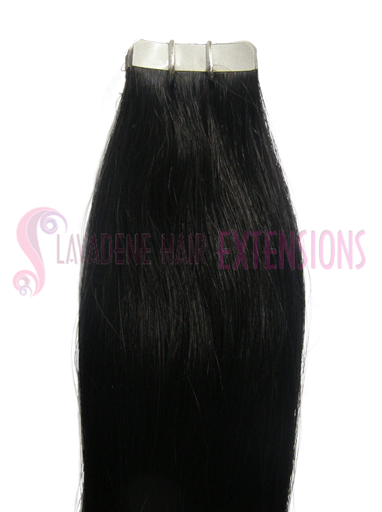 Tape Hair-Extensions-Colour-Black