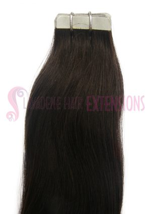 Tape Hair Extensions - Colour #1B Darkest Brown