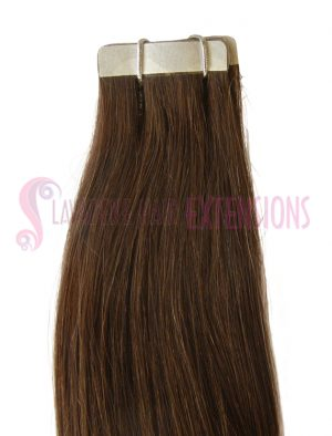 Tape Hair Extensions - Colour #4  Brown