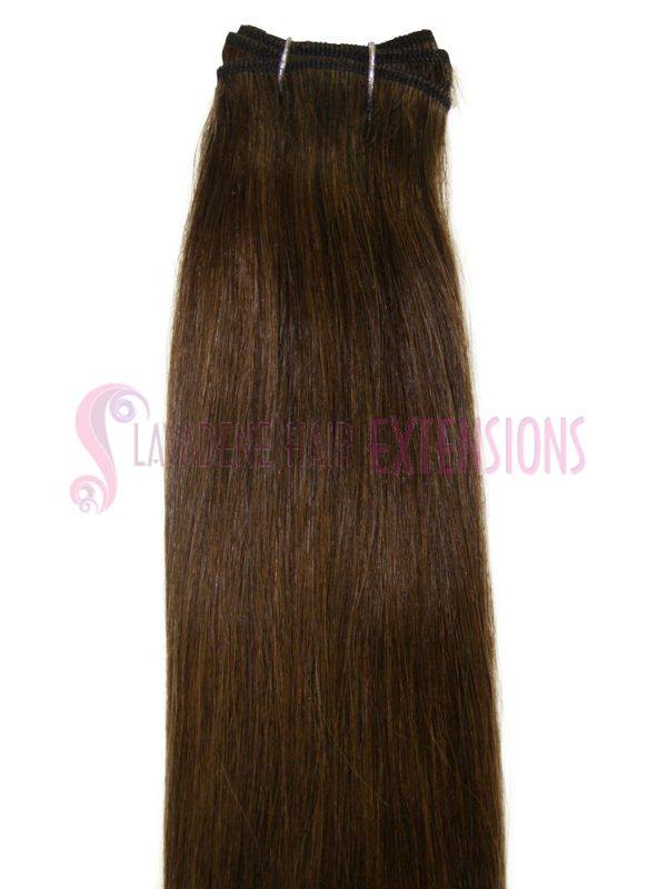 Weft Hair Extensions  - Colour Medium Brown #6